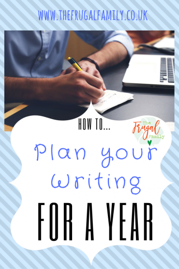 How to Plan Your Writing for a Year